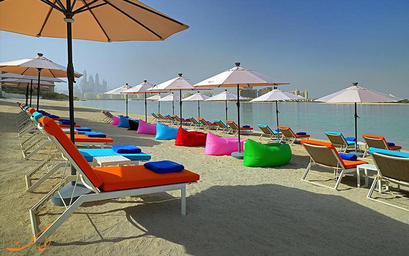 هتل آلوفت پالم جمیرا دبی-ساحل خصوصی