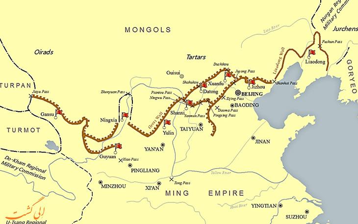 حقایق دیوار چین در مورد ساختار دیوار