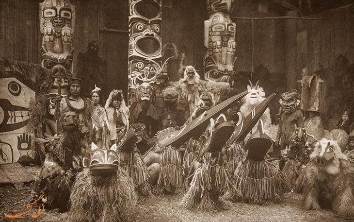 نحوه پوشش سنتی برخی از قبیله ها