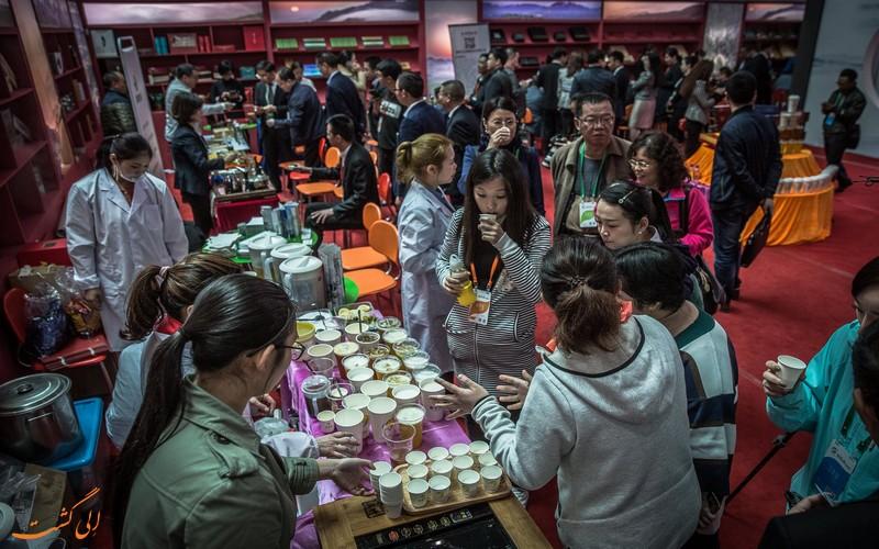 بازدید از نمایشگاه چای