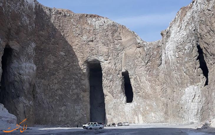 منطقه تونل نمکی در گرمسار
