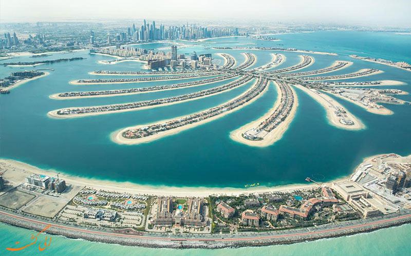 موقعیت هتل رویال سنترال پالم دبی