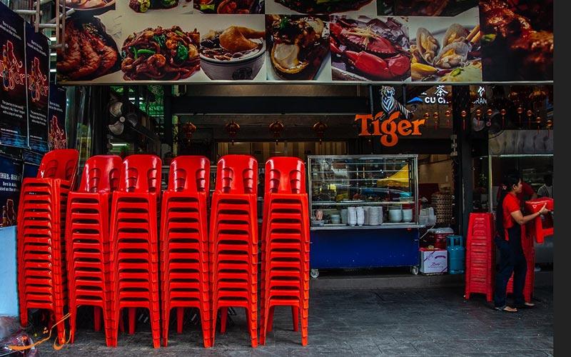خیابان جالان آلور کوالالامپور و ظروف پلاستیکی
