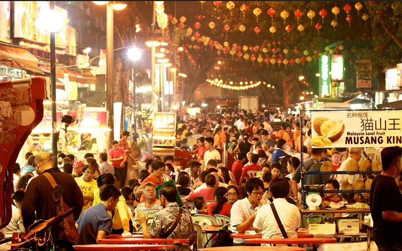 خیابان جالان آلور کوالالامپور از جاذبه های مالزی