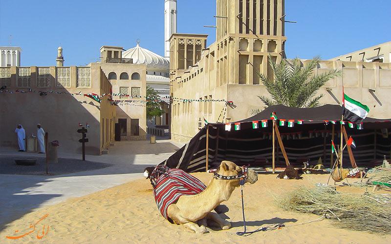 چادرهای عرب در محله بستکیه دبی