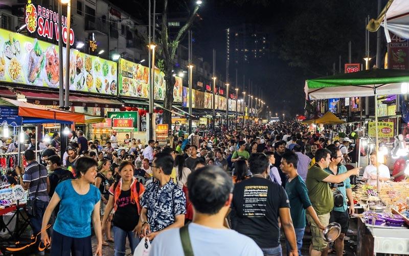 خیابان جالان آلور کوالالامپور-منطقه بوکیت بینتانگ کوالالامپور