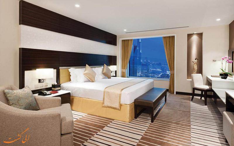 اتاق های هتل کارلتون داون تاون دبی