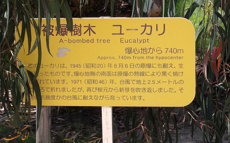 تابلو درختان-بازماندگان بمب اتمی هیروشیما