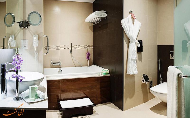 حمام اتاق ها در هتل کارلتون داون تاون دبی