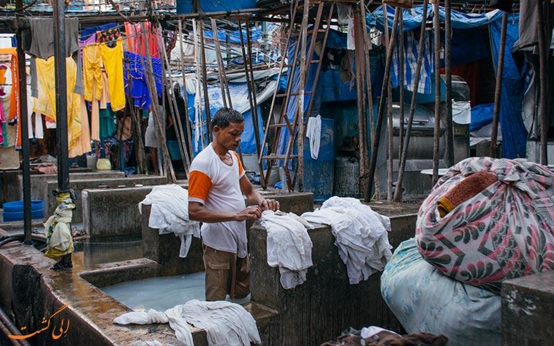 مردم رختشوی-رختشویخانه بمبئی دوبی گات