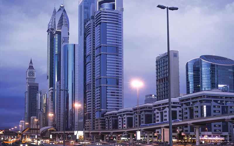 موقعیت هتل کارلتون داون تاون دبی