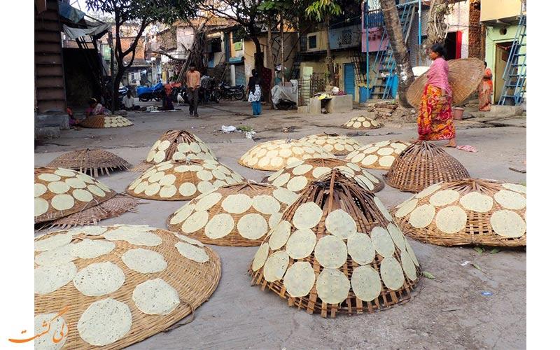 پخت پوپادوم-برنامه 5 روزه سفر به بمبئی
