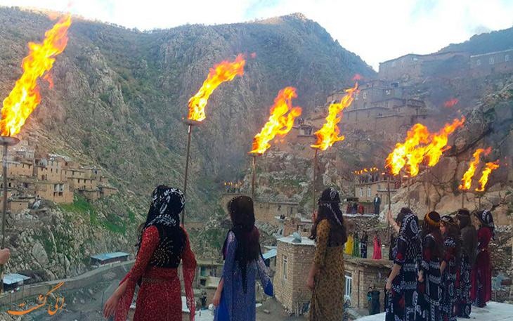 فرهنگ متفاوت چهارشنبه سوری در کردستان