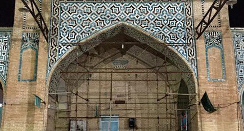 کج شدن مسجد دزفول