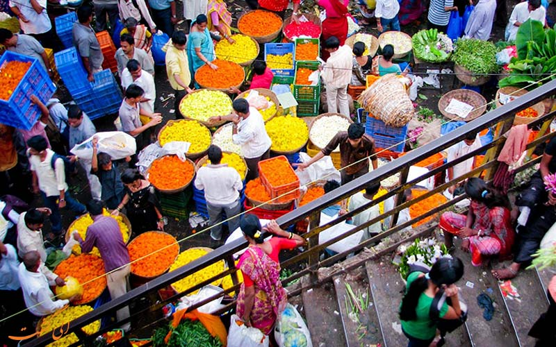 دسترسی بازار گل دادار بمبئی