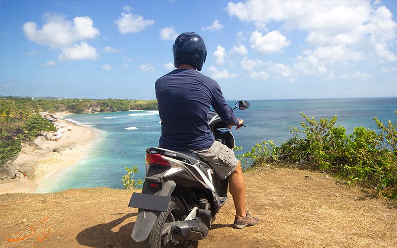 بازدید از جاذبه ها با اجاره موتورسیکلت در سفر
