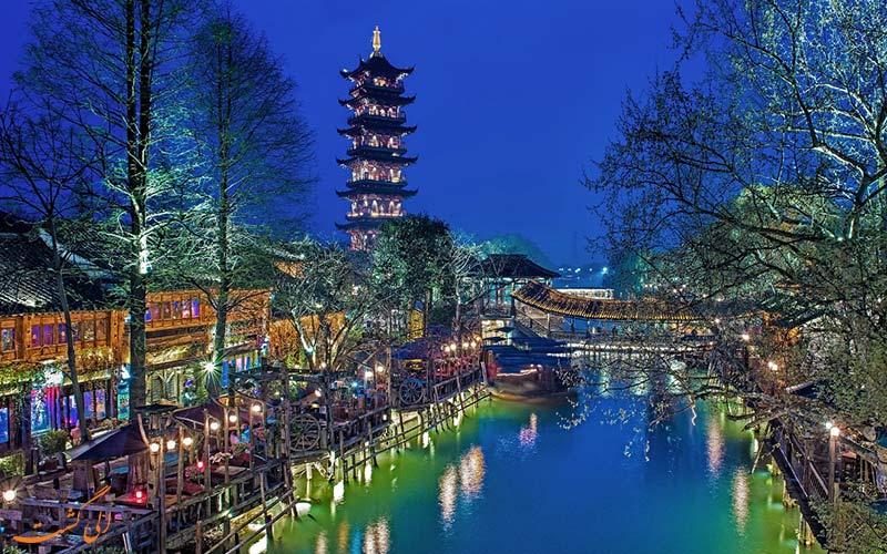 جاذبه های دیدنی و شبانه ووژن، شهر آبی چین