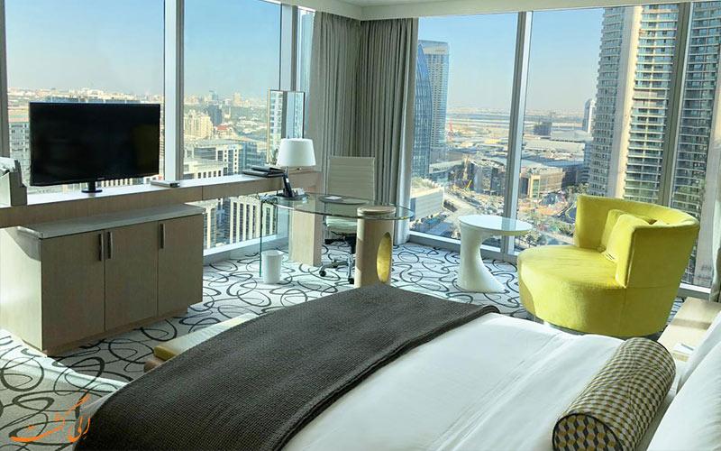 فضای اتاق ها در هتل سوفیتل داون تاون دبی