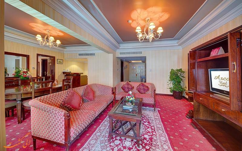 فضای نشیمن در هتل اسکوت دبی