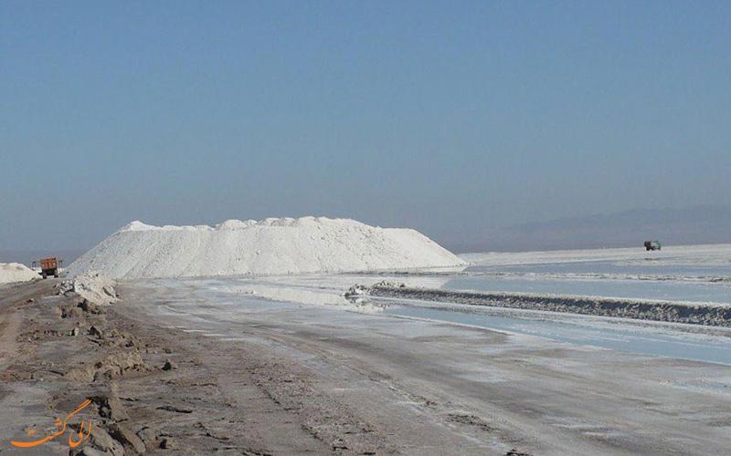 مکان دریاچه آران و بیدگل