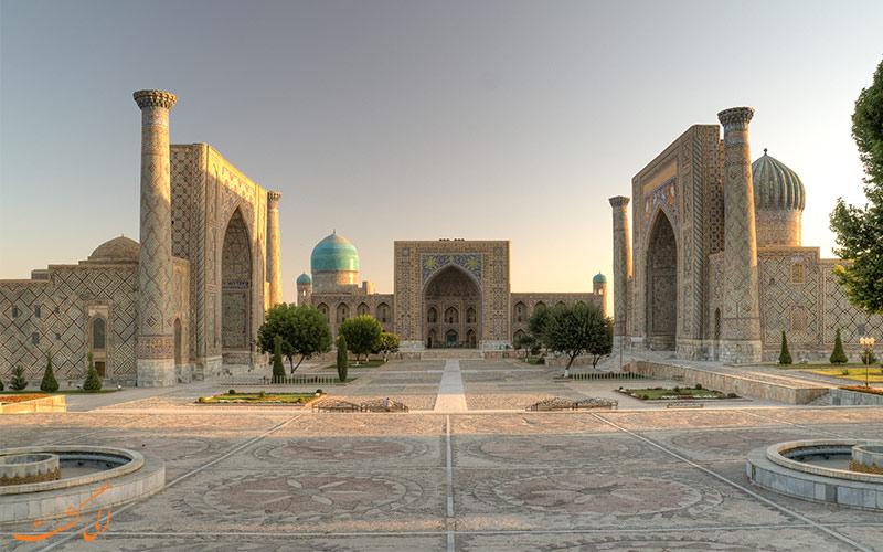 میدان ریگستان از جاذبه های سمرقند