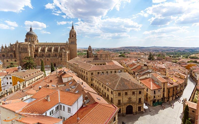 نمای تاریخی شهر سالامانکا اسپانیا