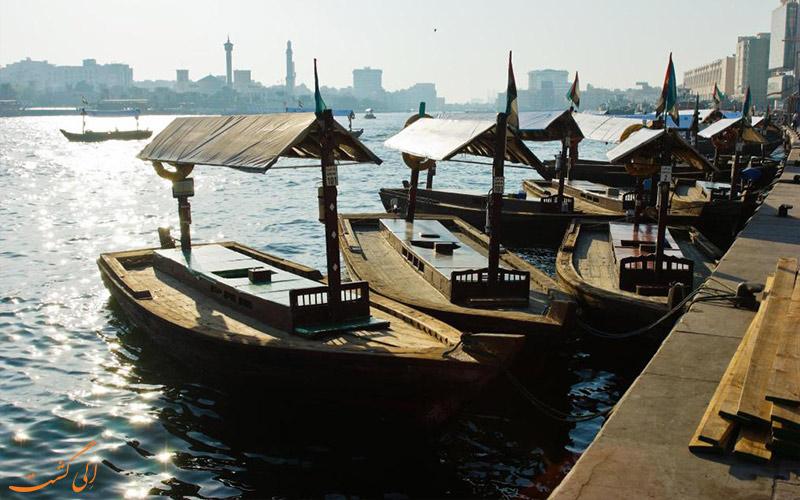 نهر دبی در نزدیکی هتل رین تری دبی