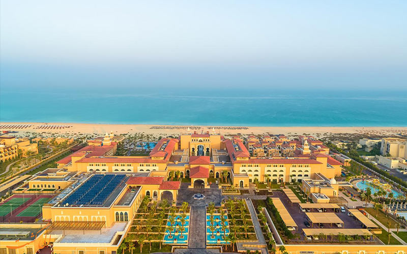 هتل ریکسوس سعدیات آیلند ابوظبی از نمای بالا
