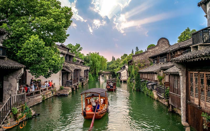 ووژن از روستاهای شناور جهان-ووژن، شهر آبی چین