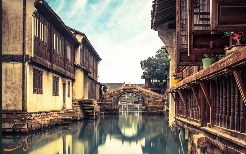 پل های سنگی ووژن، شهر آبی چین