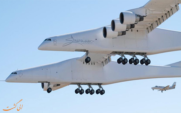 پرواز بزرگترین هواپیمای جهان