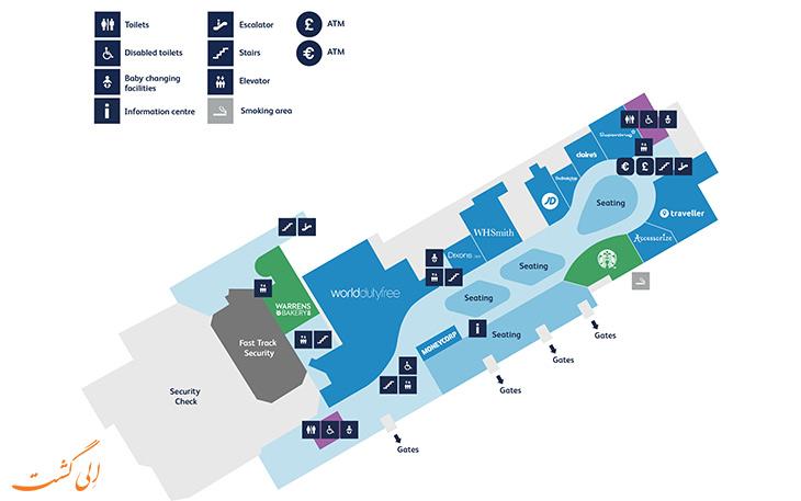 نقشه فرودگاه بریستول انگلستان