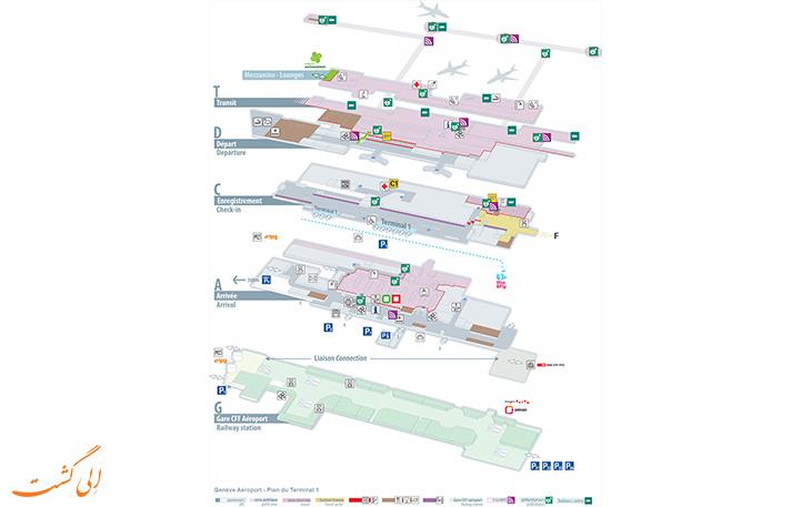 خدمات و امکانات فرودگاه ژنو سوییس