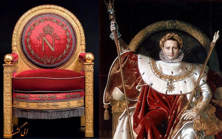 فروش تخت سلطنتی ناپلئون در حراجی