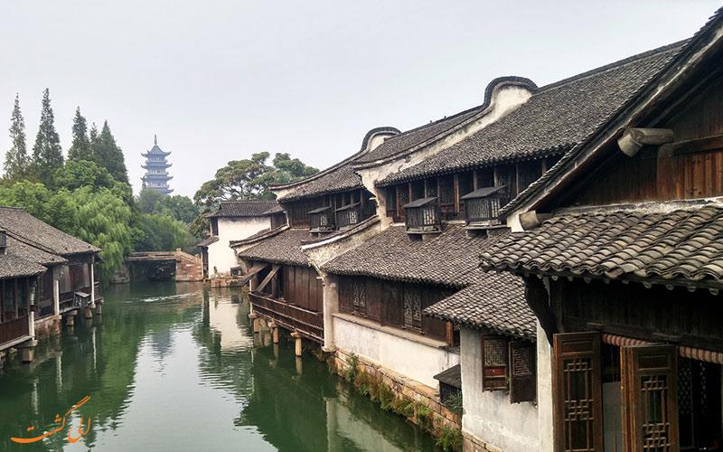 ووژن، شهر آبی چین- آبراهه ها و خانه ها