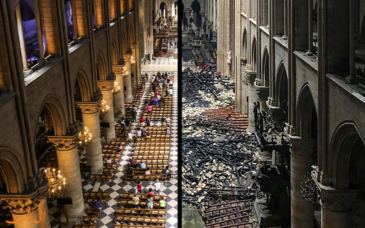 تصاویر قبل و بعد نوتردام