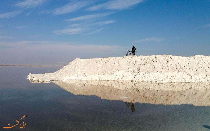 دریاچه نمک قم جان دوباه گرفت