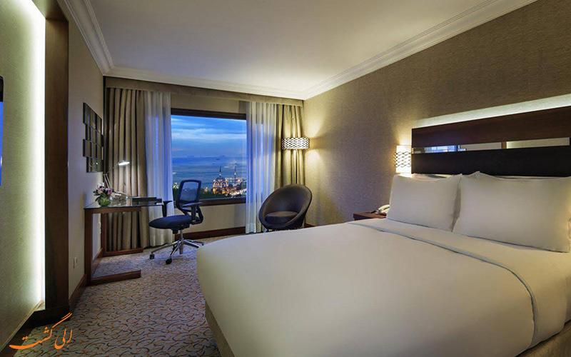 انواع اتاق های هتل استانبول هیلتون پارک