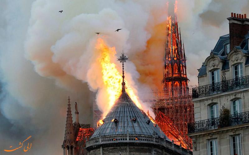 آتش سوزی در نوتردام