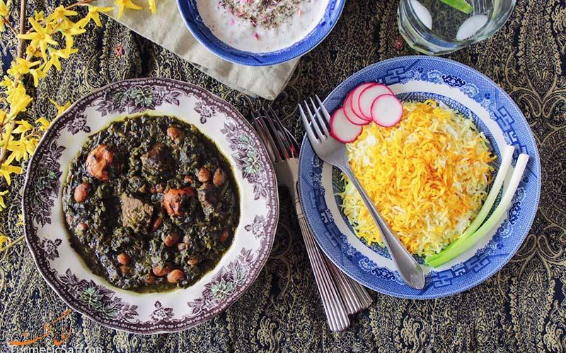 قرمه سبزی و غذاهای ایرانی