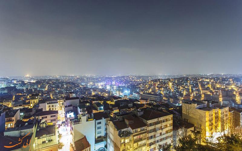 موقعیت هتل آوانگارد تقسیم استانبول