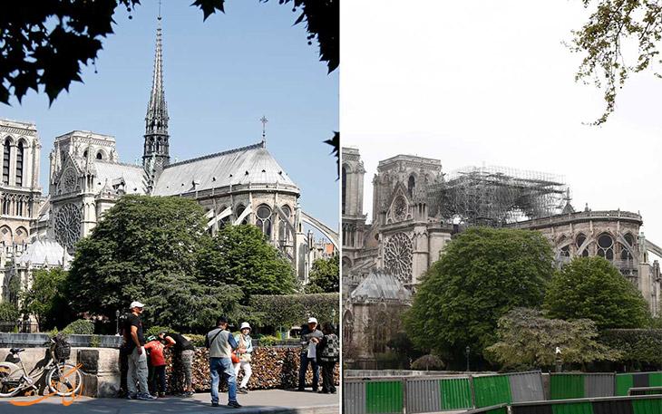 آتش سوزی کلیسای پاریس