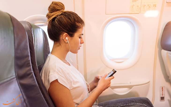 گوش دادن به موزیک در هواپیما