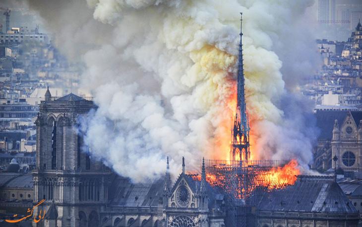 آتش سوزی در کلیسای نوتردام