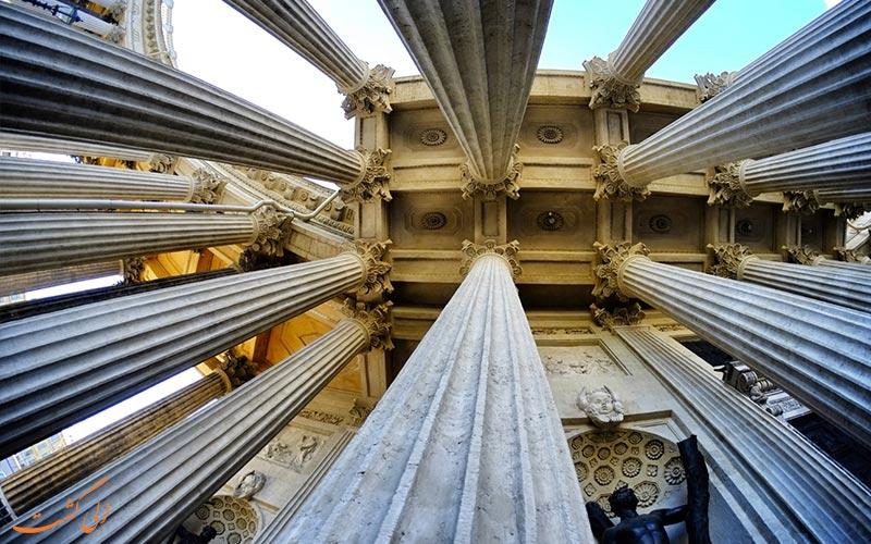 تزئینات ستون های کلیسای کازان سنت پترزبورگ