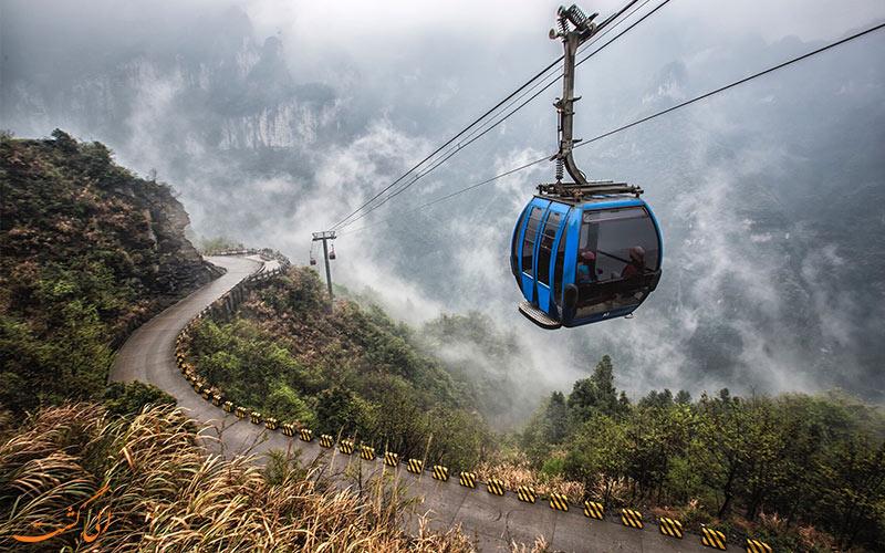 تله-کابین- پارک ملی تیانمن چین