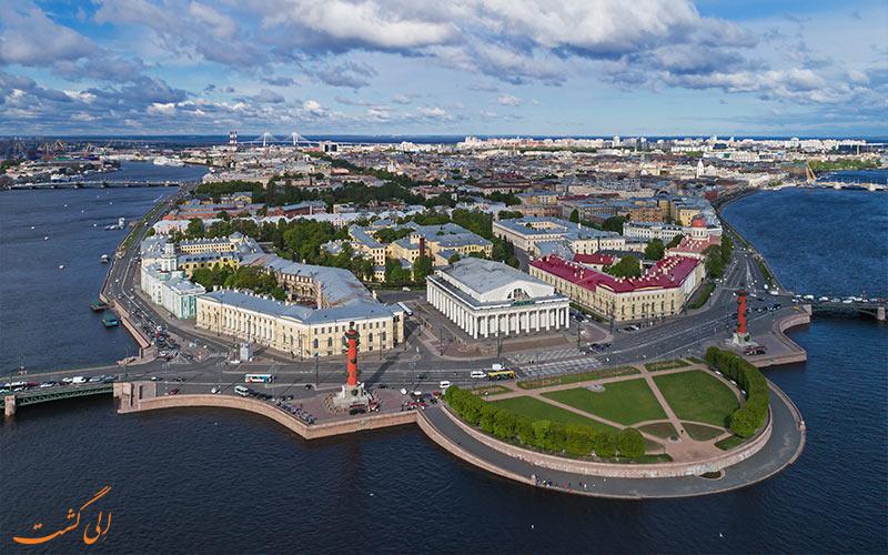 بازدید از جزیره واسیلی سنت پترزبورگ در تور روسیه