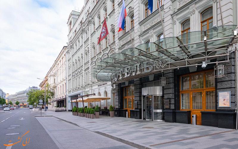 خیابان و ورودی هتل پتر یکم مسکو