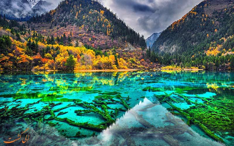 دریاچه پنج گل-پارک ملی دره جیوژای چین