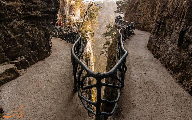 مسیر صخره ای پارک ملی تیانمن چین